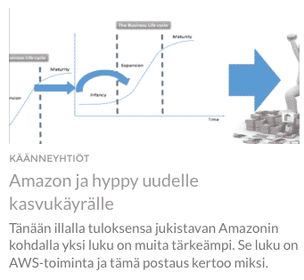 osakesijoittaminen, kasvuyhtiöt, Amazon