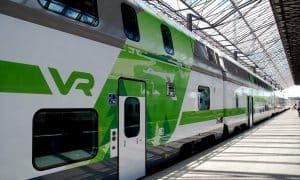 VR juna junaliikenne talous