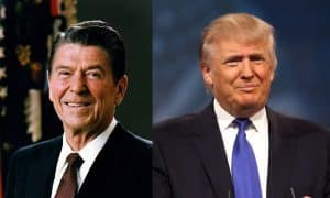 Donald Trump Ronald Reagan presidentit Yhdysvallat talous