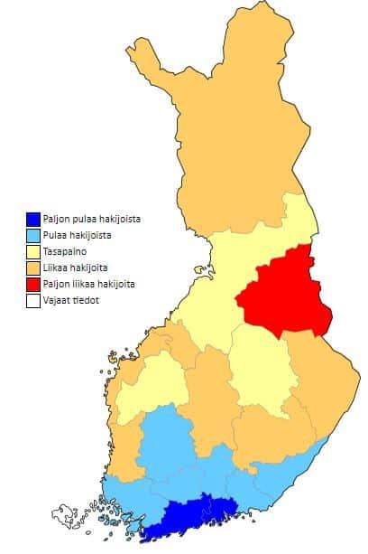 Talonrakentajat työpaikat alueittain talous