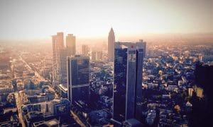 Frankfurt Saksa ulkomaat Eurooppa euroalue talous