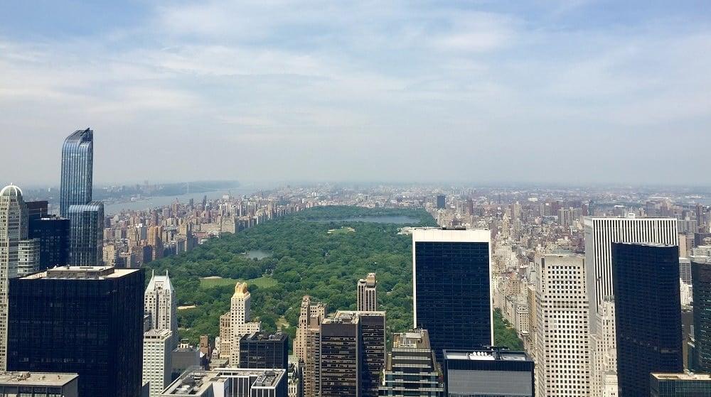 New York Manhattan pilvenpiirtäjät Central Park kaupunki