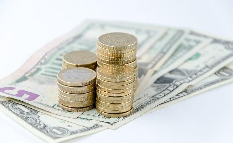 euro raha kolikot setelit käteinen