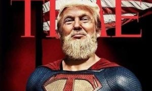 Donald Trump Superman talousnero