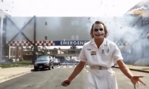 Jokeri Batman räjähdys tuho romahdus kurssiromahdus shokki