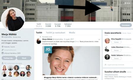Merja Mähkä Twitter sijoitusbloggaaja sijoittaja