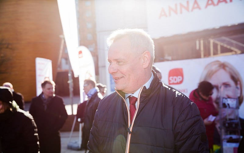 Antti Rinne puheenjohtaja SDP puolue