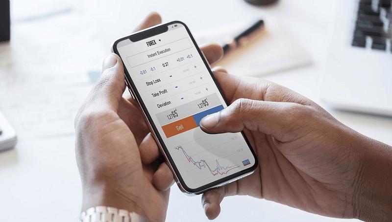 kaupankäynti osakekauppa treidaus treidaaja pörssi mobiili