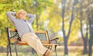 vanha mies eläke eläkejärjestelmä puisto rentoutuminen