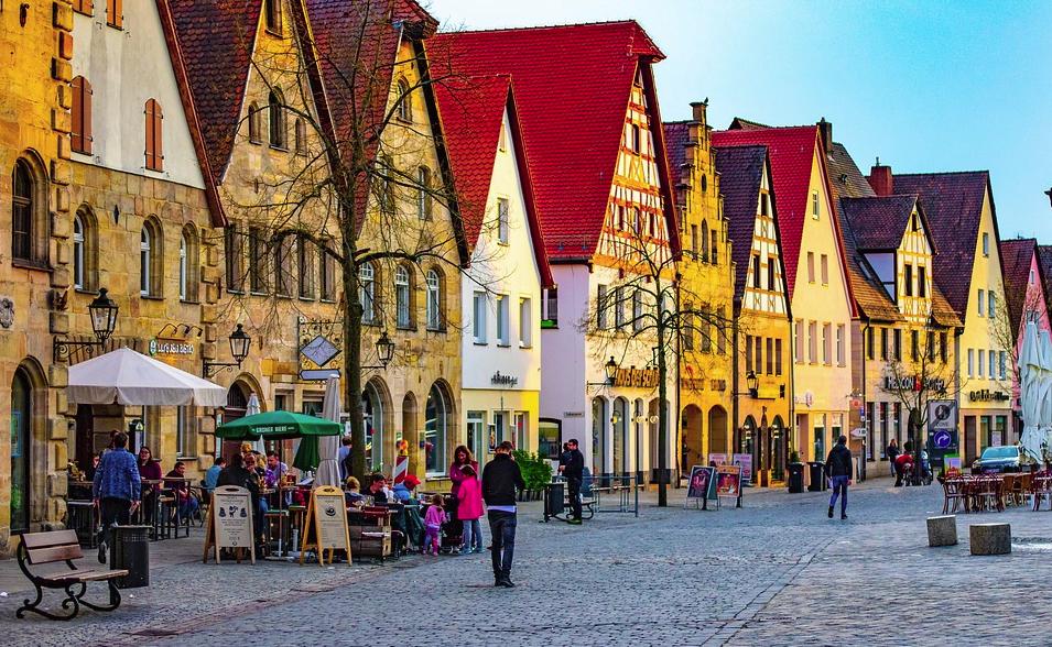 Baijeri Saksa katu kävelykatu talous