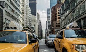 New York USA Yhdysvallat liikenne katu talous