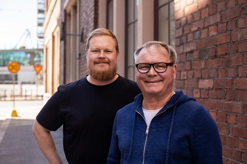 Igglo toimitusjohtaja Matti Kanninen hallituksen puheenjohtaja Jussi Nurmio