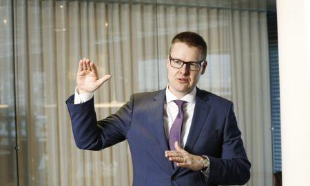 EK:n johtava ekonomisti Sami Pakarinen. Kuva: Marjo Koivumäki.