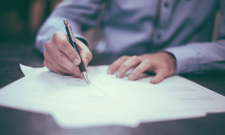 sopimus allekirjoitus kynä talous