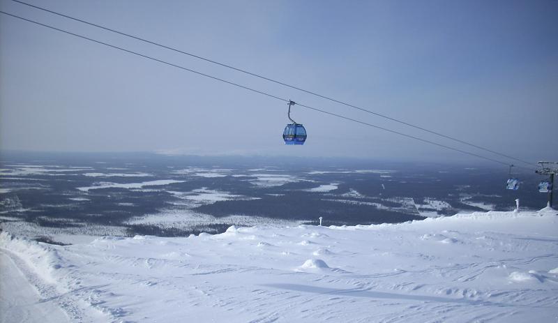 Lappi Levi matkailu tunturi maisemat Suomi talvi