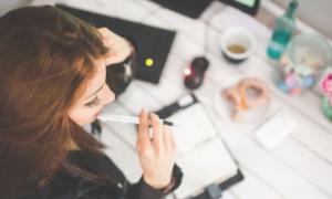 nainen työ konttori talous