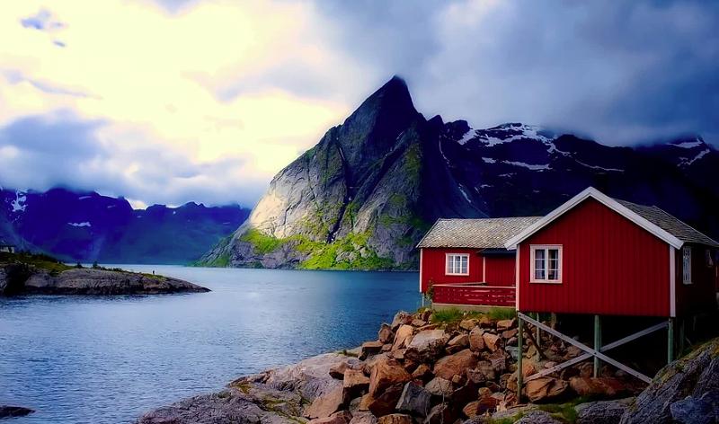 Norja vuonot vuoret talous