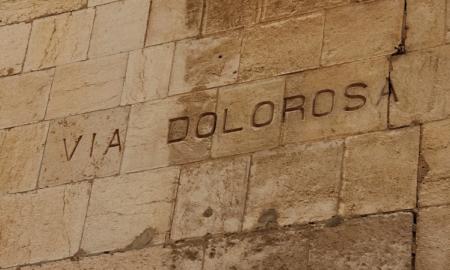 Via Dolorosa Kärsimyste tie muuri