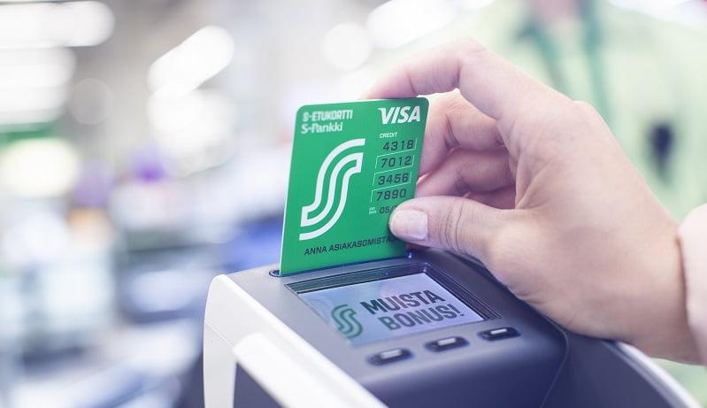 S-etukortti bonus tili maksukortti talous raha