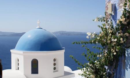 Santorini Kreikka loma meri