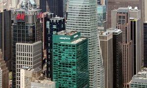 New York kaupunki pilvenpiirtäjä Manhattan Salesforce H&M