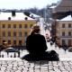Helsinki senaatintori kaupunki Suomi nuori